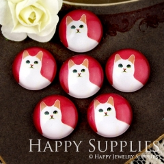 10pcs 12mm Cat Handmade Photo Glass Cabochon GC12-906
