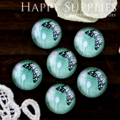 10pcs 12mm Butterfly Handmade Photo Glass Cabochon GC12-556
