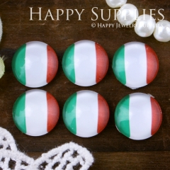 10pcs 12mm National flag Handmade Photo Glass Cabochon GC12-537