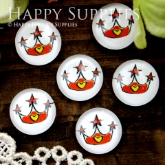 10pcs 12mm Crown Handmade Photo Glass Cabochon GC12-344