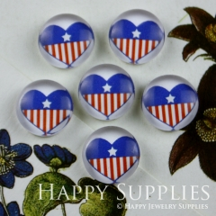 10pcs 12mm Heart Handmade Photo Glass Cabochon GC12-075