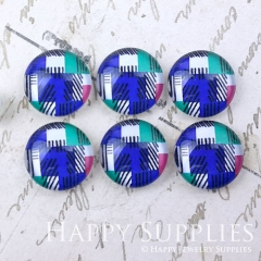 10pcs 12mm Colorful Geometric Handmade Photo Glass Cabochon GC12-1015