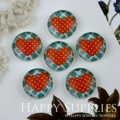 10pcs 12mm Heart Handmade Photo Glass Cabochon GC12-011