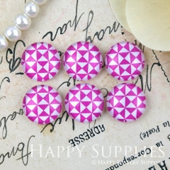 10pcs 12mm PinkTriangle Handmade Photo Glass Cabochon GC12-1265