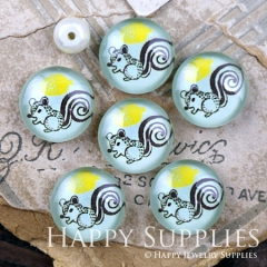 10pcs 12mm Blue Squirrel Handmade Photo Glass Cabochon GC12-1197
