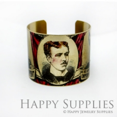 1pcs Man Handmade Photo Brass Cuff Bracelet PBC082