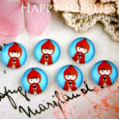 10pcs 12mm Doll Handmade Photo Glass Cabochon GC12-274