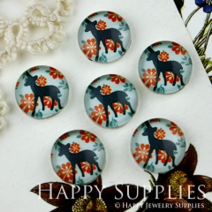 10pcs 12mm Deer Handmade Photo Glass Cabochon GC12-013