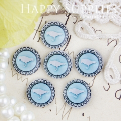 10pcs 12mm Bird Handmade Photo Glass Cabochon GC12-434