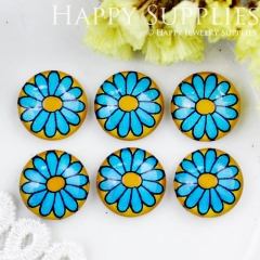 10pcs 12mm Flower Handmade Photo Glass Cabochon GC12-732