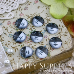 10pcs 12mm Veiled woman Handmade Photo Glass Cabochon GC12-031