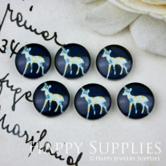 10pcs 12mm Deer Handmade Photo Glass Cabochon GC12-018