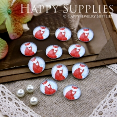 10pcs 12mm Fox Handmade Photo Glass Cabochon GC12-195