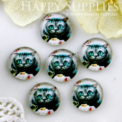 10pcs 12mm Cat Handmade Photo Glass Cabochon GC12-523