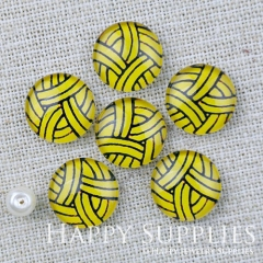 10pcs 12mm Geometric Colorful Handmade Photo Glass Cabochon GC12-1165