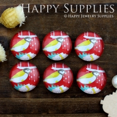 10pcs 12mm Bird Handmade Photo Glass Cabochon GC12-840