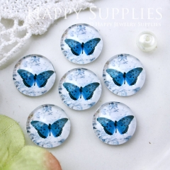 10pcs 12mm Butterfly Handmade Photo Glass Cabochon GC12-571