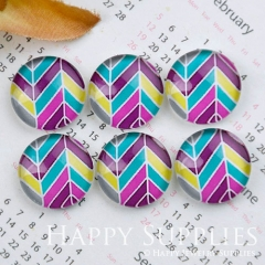 10pcs 12mm Geometric Colorful Handmade Photo Glass Cabochon GC12-1156
