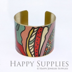 1pcs Colorful Handmade Photo Brass Cuff Bracelet PBC009