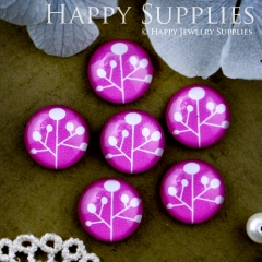 10pcs 12mm Tree Handmade Photo Glass Cabochon GC12-508