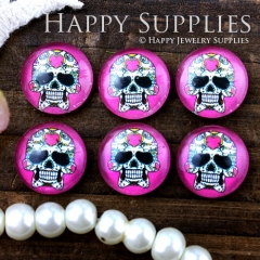 10pcs 12mm skull Handmade Photo Glass Cabochon GC12-628