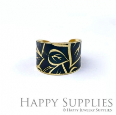 1pcs Leaf Handmade Photo Brass Ring PR117