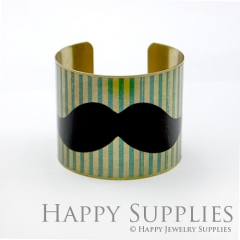 1pcs Moustache Handmade Photo Brass Cuff Bracelet PBC025