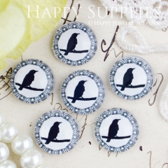 10pcs 12mm Bird Handmade Photo Glass Cabochon GC12-436