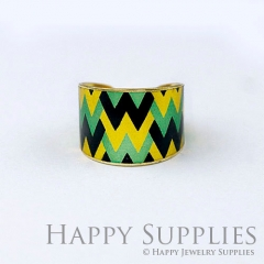 1pcs Pattern Handmade Photo Brass Ring PR126