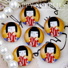 10pcs 12mm Cute Doll Handmade Photo Glass Cabochon GC12-422