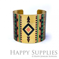 1pcs Pattern Handmade Photo Brass Cuff Bracelet PBC114
