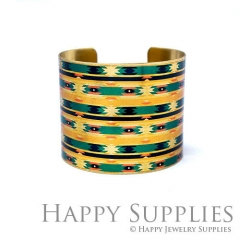 1pcs Pattern Handmade Photo Brass Cuff Bracelet PBC203