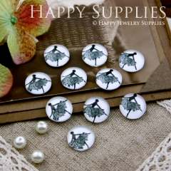 10pcs 12mm Ballet Handmade Photo Glass Cabochon GC12-187
