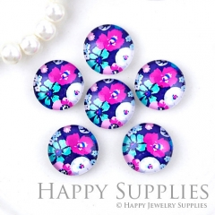 10pcs 12mm Flower Handmade Photo Glass Cabochon GC12-1259