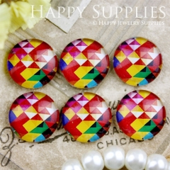 10pcs 12mm Colorful Geometric Triangle Handmade Photo Glass Cabochon GC12-721