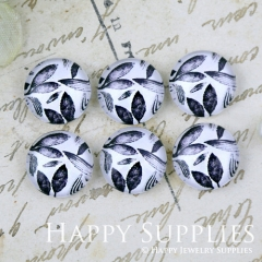 10pcs 12mm Leaf Handmade Photo Glass Cabochon GC12-1264