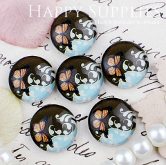 10pcs 12mm Butterfly Handmade Photo Glass Cabochon GC12-443