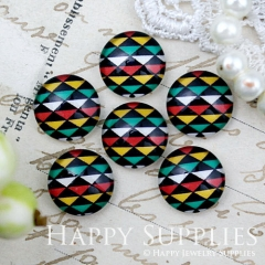 10pcs 12mm Triangle Colorful Geometric Handmade Photo Glass Cabochon GC12-1009