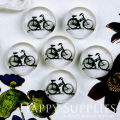 10pcs 12mm Bicycle Bike Handmade Photo Glass Cabochon GC12-100