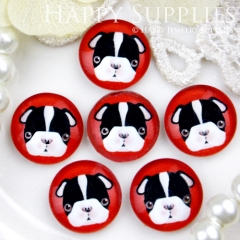 10pcs 12mm Dog Handmade Photo Glass Cabochon GC12-414