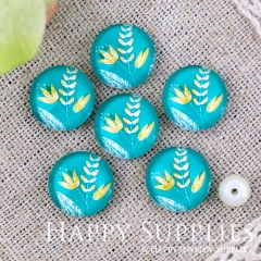 10pcs 12mm Leaf Handmade Photo Glass Cabochon Glass Bead GC12-1289