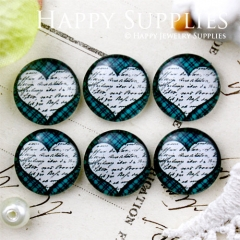 10pcs 12mm Heart Handmade Photo Glass Cabochon GC12-657