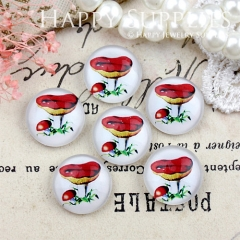 10pcs 12mm Mushroom Handmade Photo Glass Cabochon GC12-818