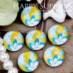 10pcs 12mm Flower Handmade Photo Glass Cabochon GC12-416