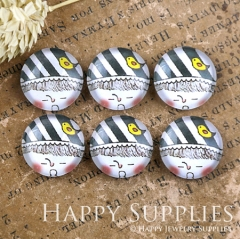 10pcs 12mm Lovely doll Handmade Photo Glass Cabochon GC12-1190