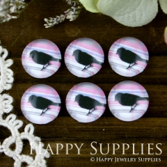 10pcs 12mm Bird Handmade Photo Glass Cabochon GC12-029