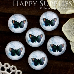 10pcs 12mm Butterfly Handmade Photo Glass Cabochon GC12-573