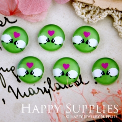 10pcs 12mm Sheep Love Handmade Photo Glass Cabochon GC12-287