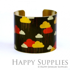 1pcs Cloud Handmade Photo Brass Cuff Bracelet PBC043