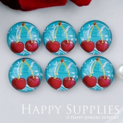 10pcs 12mm Cherry Fruit Handmade Photo Glass Cabochon GC12-1108